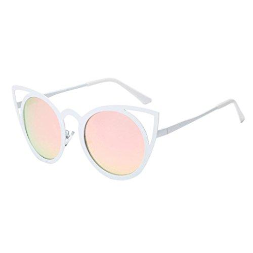 GOODCULLER Womens Men Fashion Cat Ear Metal Frame Sunglasses Sunglasses (Mm 6pc Screwdriver)