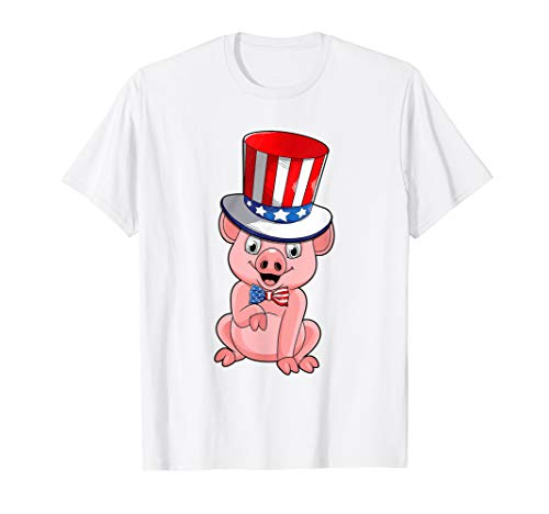 Pig American Flag Hat Patriotic 4th Of July Shirt Gifts