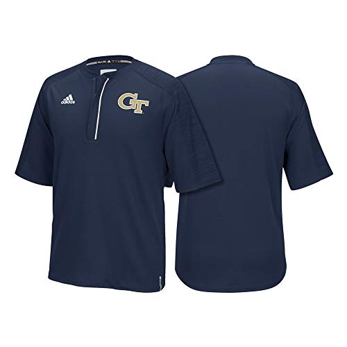 - adidas Georgia Tech Yellow Jackets NCAA Men's Navy Blue Sideline Climalite 1/4 Zip Knit Shirt