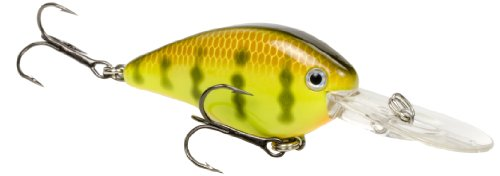 Crankbait Perch (Strike King KVD 1.5 Flatside Pro-Model Crankbait, Chartreuse Perch)