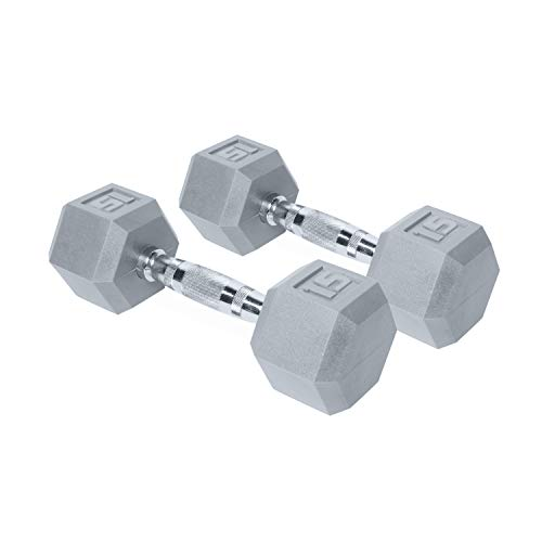 CAP Barbell Color Coated Hex Dumbbell Weights with Contoured Chrome Handle
