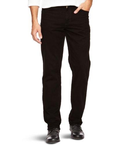 para Black Pantalones Negro 100 Black Stretch Wrangler Texas Hombre ETqPII