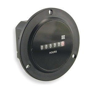 Hour Meter, AC Quartz, 2.80 in. D, 6 Digit