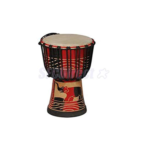 FidgetGear 4inch Mahogany Djembe African Hand Drum Tabour for Kids Musical Toys from FidgetGear