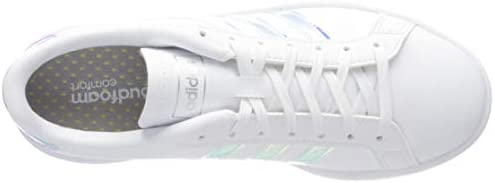 31iD5M7%2Bq1L. AC adidas Women's Grand Court Sneaker    A '70s style reborn. These women's shoes take inspiration from iconic sport styles of the past and move them into the future. The shoes are made of a durable leather-like upper with signature 3-Stripes along the sides. Plush midsole cushioning gives comfort to every step.