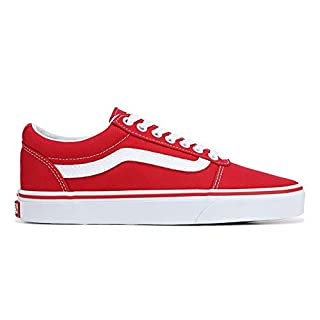 Vans Ward Low Top Sneaker - Racing Red/White (9) (Racing Red/White)