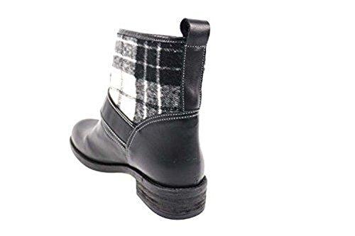37 Gray Black D AN44 Textile EU US 7 Braccialini Ankle Leather Boots wpF0UOqE