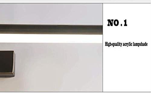 Nuovi Fari a Specchio in Bronzo Cinese Lampada da Bagno a Led da Bagno Lampada da Specchio a Specchio per Illuminazione a Specchio, W-L, Rame nero-l / 76cm / 15w