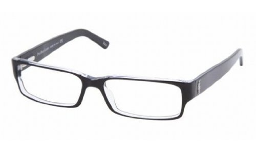Polo PH 2039 Eyeglasses Styles Top BlackCrystal Frame wNon-Rx 54 mm Diameter Lenses 5011-5415
