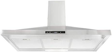 Montpellier CHC1012MSSREM - Chimenea (100 cm, acero inoxidable): Amazon.es: Grandes electrodomésticos