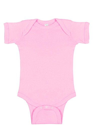 (Infant Baby Boys or Girls Plain Basic Blank Creeper / Onesie / Bodysuit (24 mo., Pink))