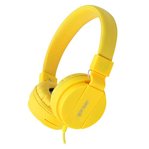 xxiaoTHAWxe Fashion Deep Bass Headphone 3.5mm Wired Foldable Portable Gaming Music Headset Yellow from THAWxe