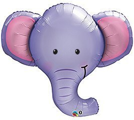 Lovely One XL BABY BOY PURPLE ELEPHANT BABY SHOWER Balloons Decorations Supplies  By Qualatex