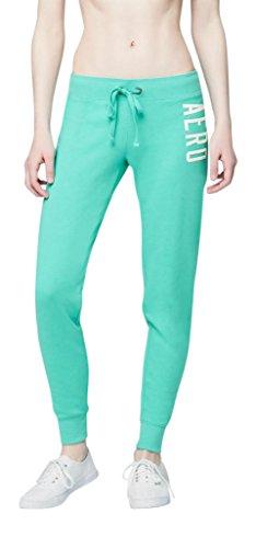 Aeropostale Womens Aero Jogger Sweatpants Medium Aqua