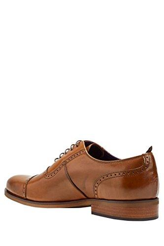 next Hombre Zapato Puntera Perforada Signature Zapatillas Bronceado