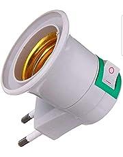 Adaptador Soquete E27 Lâmpada Para Tomada Com Chave Liga Desliga Bivolt 110v 220v