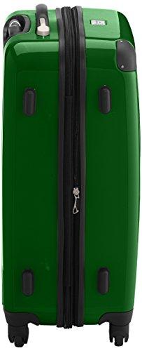 HAUPTSTADTKOFFER - Alex - 2er Koffer-Set Hartschale glänzend, TSA, 65 cm + 55 cm, 74 Liter + 42 Liter, Graphit-Gelb Graphit-grün