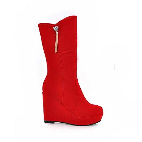Red Abl09836 femme Rouge Plateforme BalaMasa HUwzq