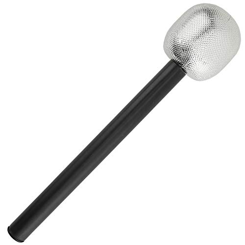 Halloween Themed Rock Music (Skeleteen Stage Mic Costume Prop - Rock Star Toy Microphone Party Favor Decorative Props Costume Accessory - 1)
