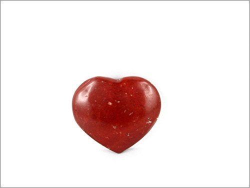 JET Red Jasper Puffy Heart Small Gemstone Spirit Guide Jet International 40 Page Booklet Crystal Therapy Healing Chakra Balancing Energy Love Divine (Jasper Ruby Bracelet)