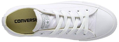 Converse Chuck Taylor All Star Adulte Mono Leather Ox 15460 Unisex - Erwachsene Sneaker Weiß (Monocrom)