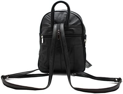 Biker Cow Leather Backpack Canvas Nylon Camouflage Backpack Multiple Pocket