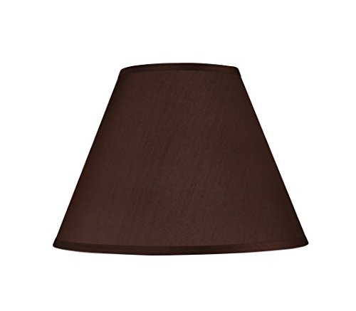 Aspen Creative 32151 Transitional Hardback Empire Shape Spider Construction Lamp Shade in Brown, 15