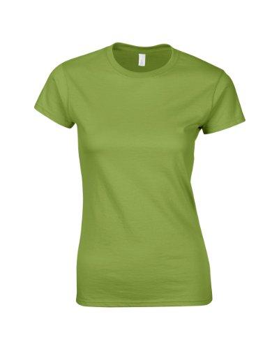 Gildan softstyle TM Mujeres–Camiseta con Hilado verde kiwi