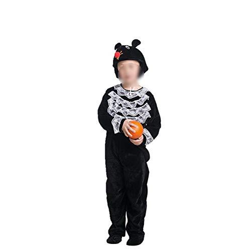 Halloween Children Animal Show Costume Long Short Sleeve Cartoon Dance Parenting,Black Rat,160cm