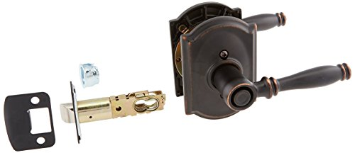 Schlage Lock Company F40BIR716CAM Aged Bronze Privacy Birmingham Privacy Door Lever Set with the Decorative Camelot ()