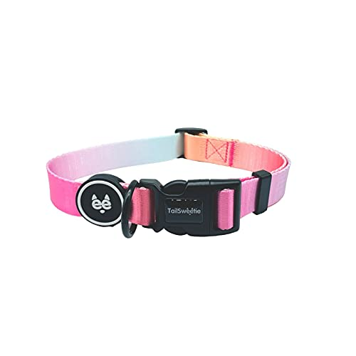 """Pink Collar for Dogs – Cute Dog Collar for Lovely Boy or Girl / Female Dogs – Fancy Dog Collar for Summer, Fall, Outdoor Walking, Running, Camping and Training, Size S, Neck 10-15"""""""