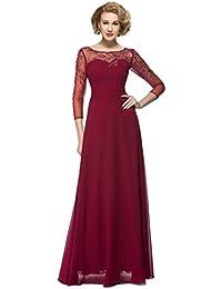 6f04d9c4660 Women s Elegant Long Sleeves Chiffon Beaded Mother of the Bride Dress