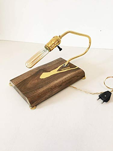 Exclusive table lamp Pride/&Joy accent lamp home decor gift unique office lamps lights for home walnut designer wooden lighting art lighting