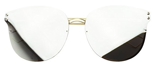 Rimless Vibrant Mirrored Fashion Sunglasses product image