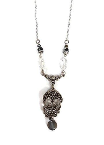 Skull Pendant Necklace - (Burton Black Necklace)