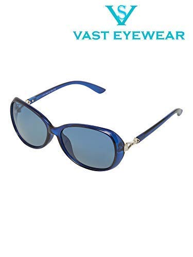 Vast Polarized Over sized Women Sunglasses (1731_C18_BLUE)