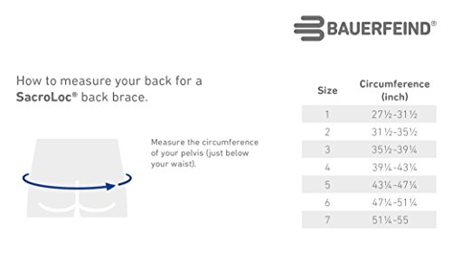 Bauerfeind - SacroLoc - Back Support - Pain Relief and Back Support from Sitting or Standing Too Long, Helps Stabilize & Relieve Pressure in the Sacroiliac Joints - Size 7 by Bauerfeind (Image #7)