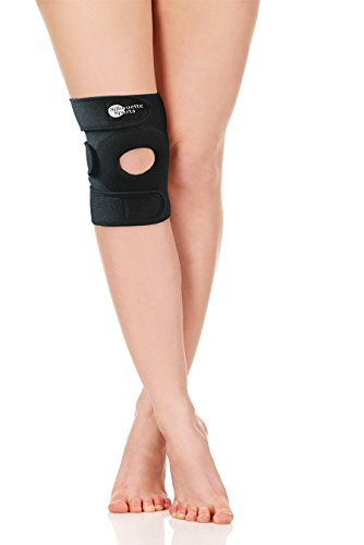 Breathable Knee Support Brace, Open Patella Wrap for Tendon and Ligament Support for Men, Women & Kids - Treat Arthritis, Bursitis, Tendonitis, Jumper's Knee (Armor Supporter Athletic Under)
