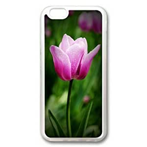 iphone 4 4s Case, A Branch of Tulip Case for iphone 4 4s TPU Material Transparent
