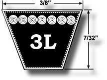 3L430 Kevlar Courroie pour tondeuse