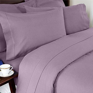 Grandeur Linens 800 Thread Count Four (4) Piece Full Size Lavender Solid Bed  Sheet