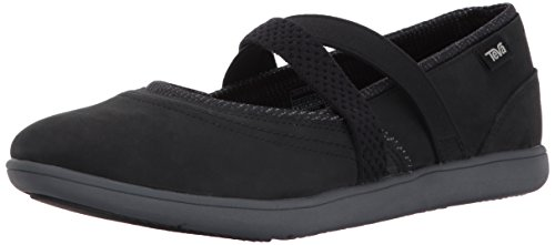 Teva Women's W Hydro-Life Slip-on Leather Slipper, Black, 6.5 M ()