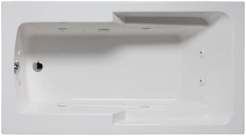 Malibu MHCO7242C01 Coronado Rectangular Combination Whirlpool and Massaging Air Jet Bathtub
