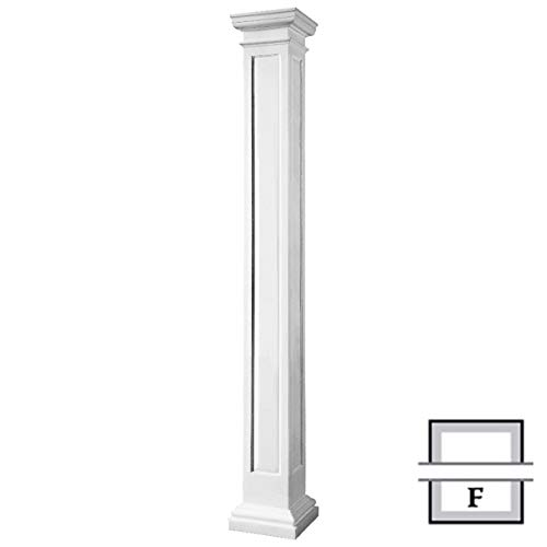 Endura-Stone Columns ESK0808FNMSATUTU Non-Tapered Recessed Panel (FRP), Smooth Paint-Grade, Tuscan Capital & Base, 8