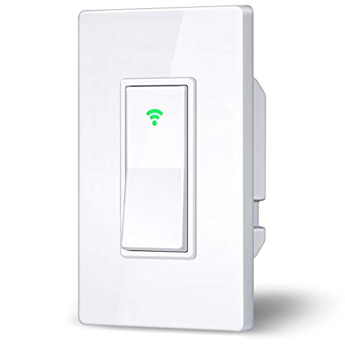 SuMile WiFi Smart Light Switch - Smart Home Control Lighting from Anywhere, Easy In-Wall Installation, No Hub Required, Compatible with Alexa and Google Assistant