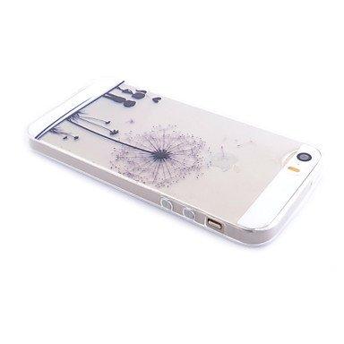 Fundas y estuches para teléfonos móviles, Patrón de diente de león transparente caja del teléfono celular transparente suave material de TPU para el iphone 5 / 5s ( Modelos Compatibles : IPhone 7 ) IPhone 6s/6