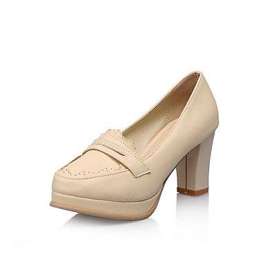 Le donne sexy elegante sandali donna tacchi Primavera Estate Autunno Inverno altri PU Office & Carriera Party & abito da sera Chunky Heel blu beige rosa , rosa , us8 / EU39 / UK6 / CN39