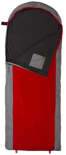 TETON Sports Journey +40°F Ultralight Sleeping Bag (2.3 Pound, 90-Inch x 33-Inch, Red/Grey), Outdoor Stuffs