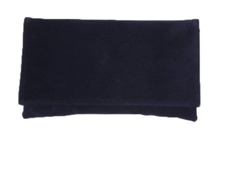 Buy Authentic on sale special price for Dark Navy Faux suede clutch bag navy suede shouderr bag