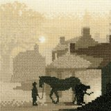 Heritage Crafts Silhouettes Series -'Winter Shoes' Counted Cross Stitch Kit 14 count aida